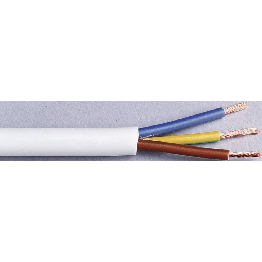 Gumeni kabel H03VV-F 3 x 0.75 mm bijele boje LappKabel 49900068 5 m