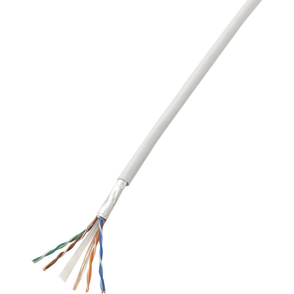 Omrežni kabel Conrad, CAT 6, CCA (aluminij, prevlečen z bakrom), zapakiran, bel, 10 m SH1998C270