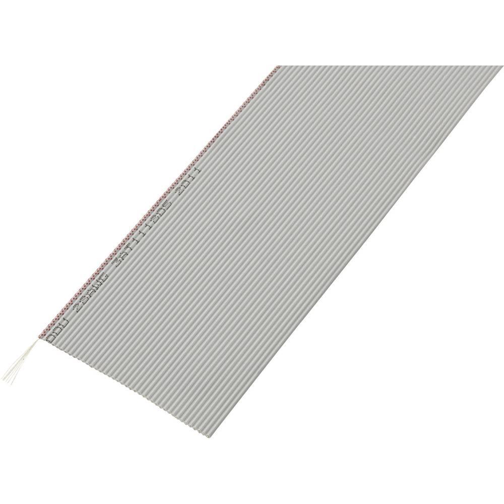 Pljosnati kabel dimenzije: 1.27 mm 40 x 0.035 mm sive boje Conrad Components SH1998C206 30.5 m