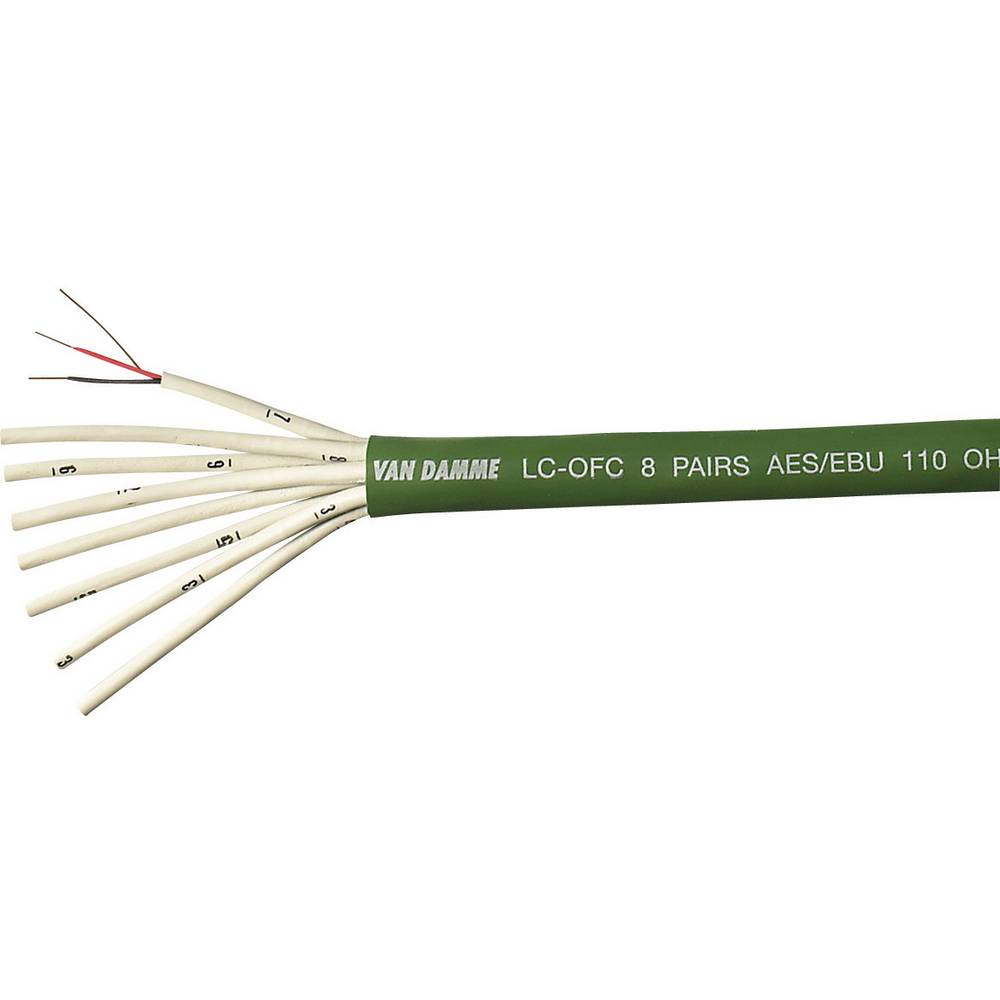 VanDamme-''Green Series Digi Grade AES/EBU''-Digitalni kabel, 0.14mmË>, zelen, metarska roba 268-401-050