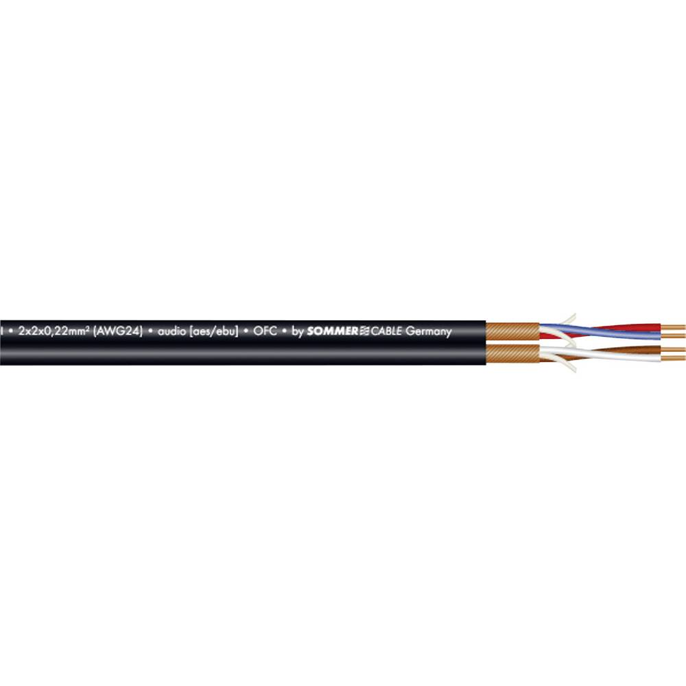 Dvožilni mikrofonski kabel inAES-/EBU-kabel Sommer Cable SC-PEACOCK, 2 x 2 x 0,22 mm2 200-0551