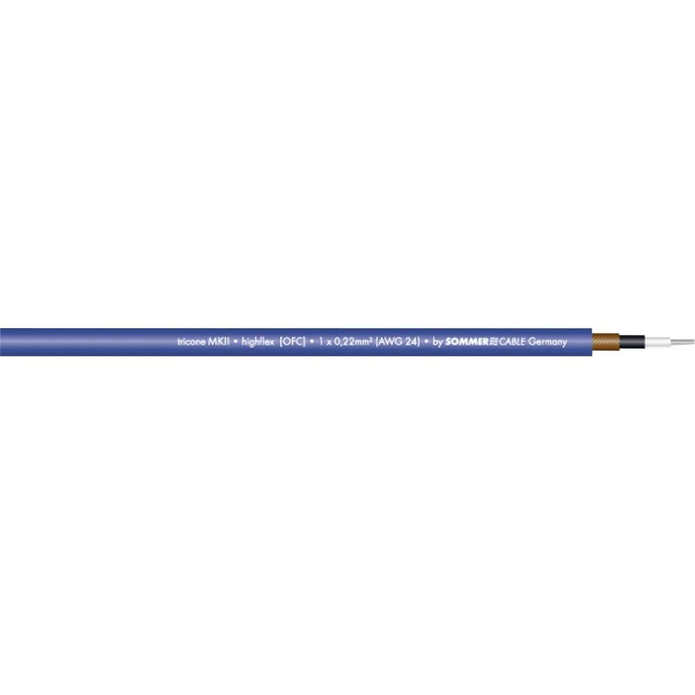 Sommer Cable-''TRICONE MKII''-Kabel za glazbene instrumente, 1x0.22mmË>, plav, metarska roba 300-0022