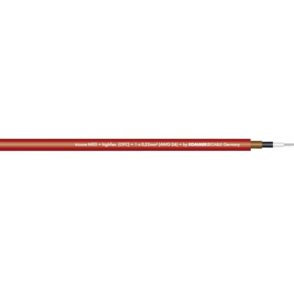 Kabel za glasbila Sommer CableTricone MKII, 1 x 0,22 mm2, rdeče barve, metrsko blago 300-0023