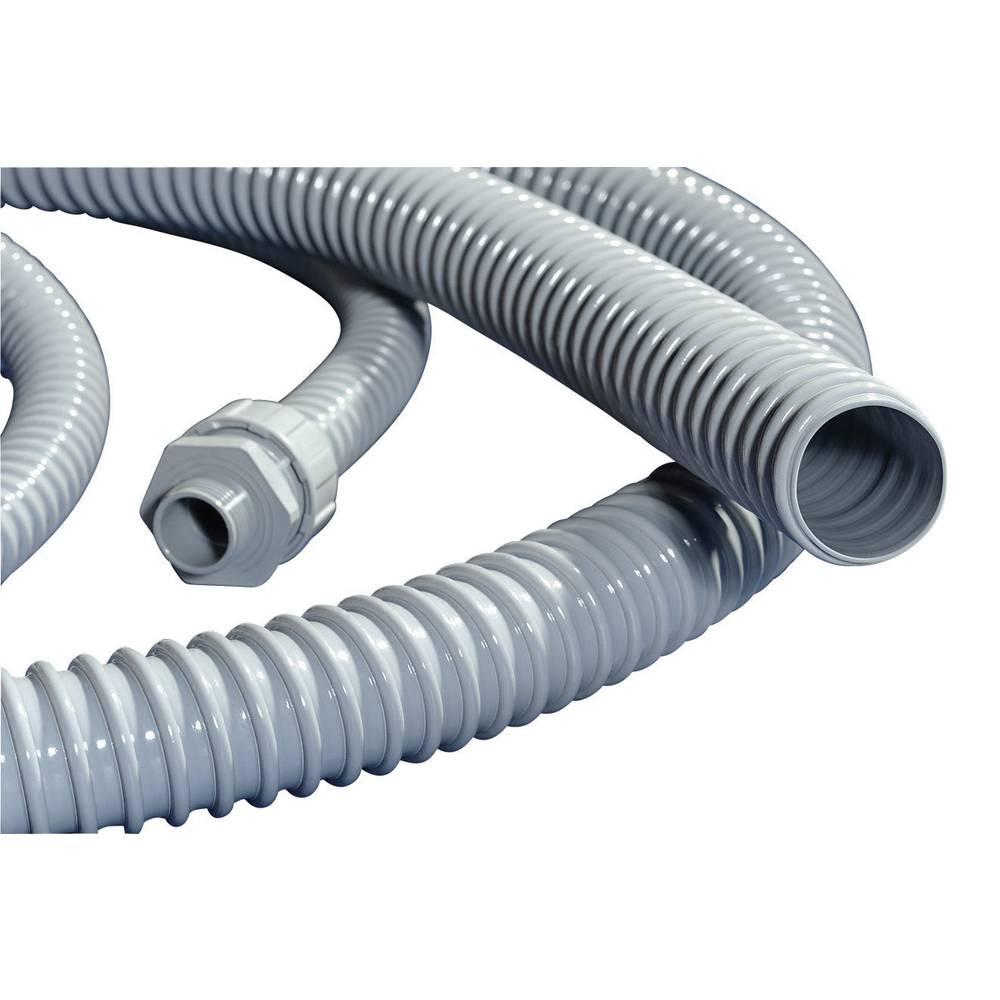 PVC- Zaštitna cijev HelaGuardPSR, unutarnji O: 35 mm, siva,PSR40 HellermannTyton 166-40006