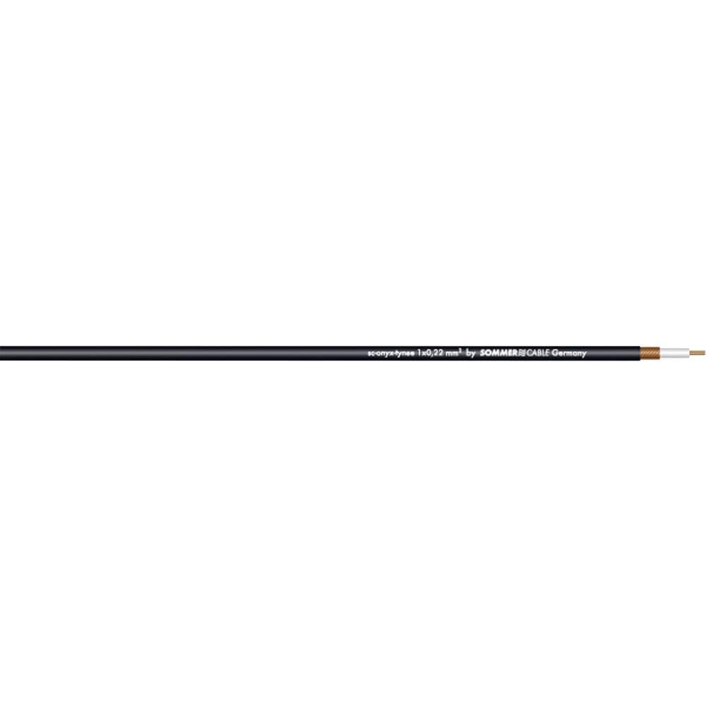 Sommer Cable-''SC-ONYX''-Kabel zaglasbene instrumente i patch kabel, 1x0.22mmË>, crn, metarska roba 300-0031