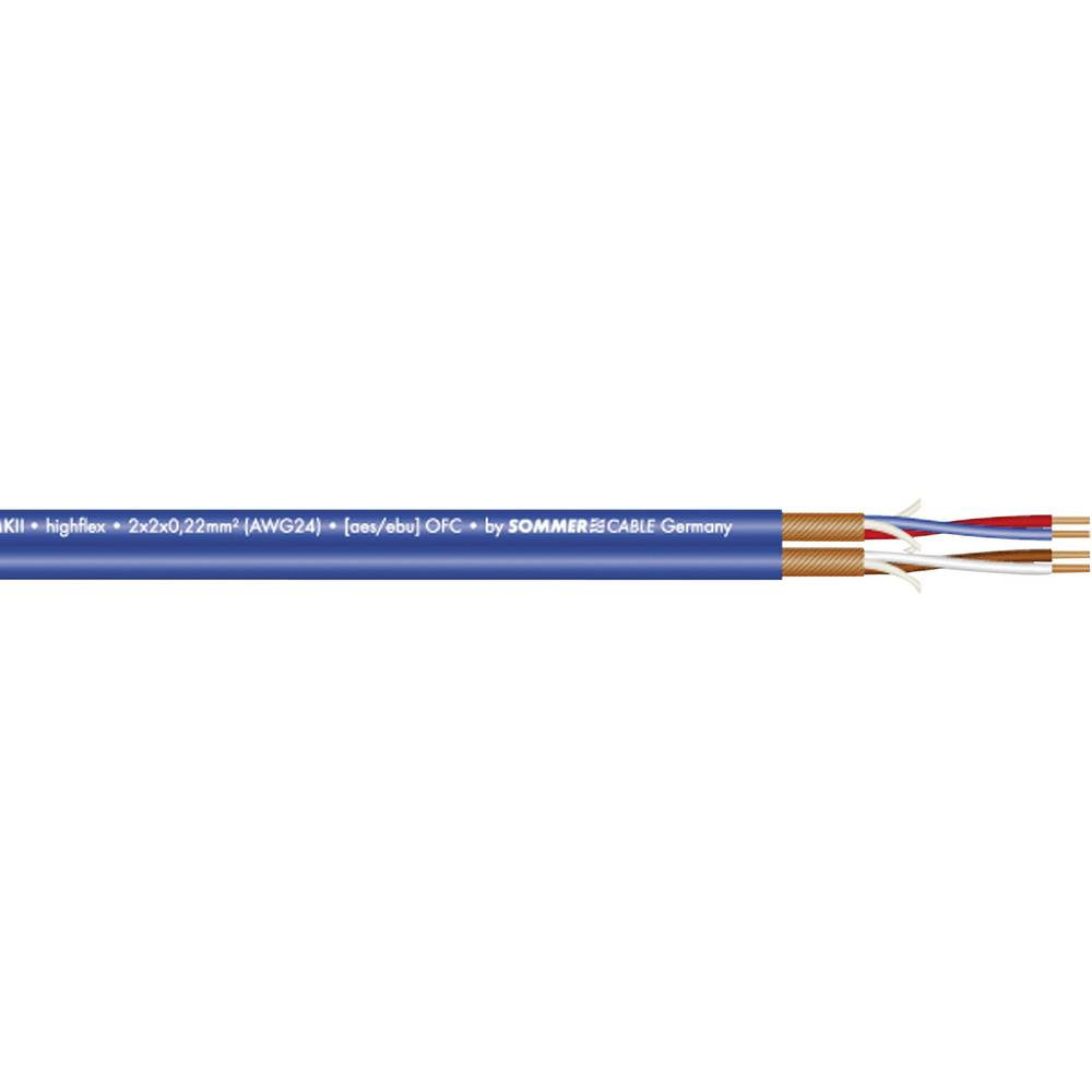 Dvožilni mikrofonski kabel inAES-/EBU-kabel Sommer Cable SC-PEACOCK, 2 x 2 x 0,22 mm2 200-0552