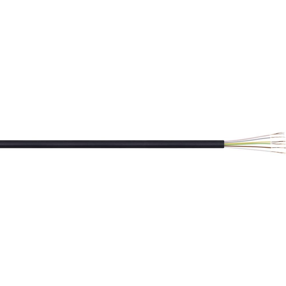 Telefonski kabel LiYY 6 x 0.09 mm črne barve LappKabel 49900013 meterski