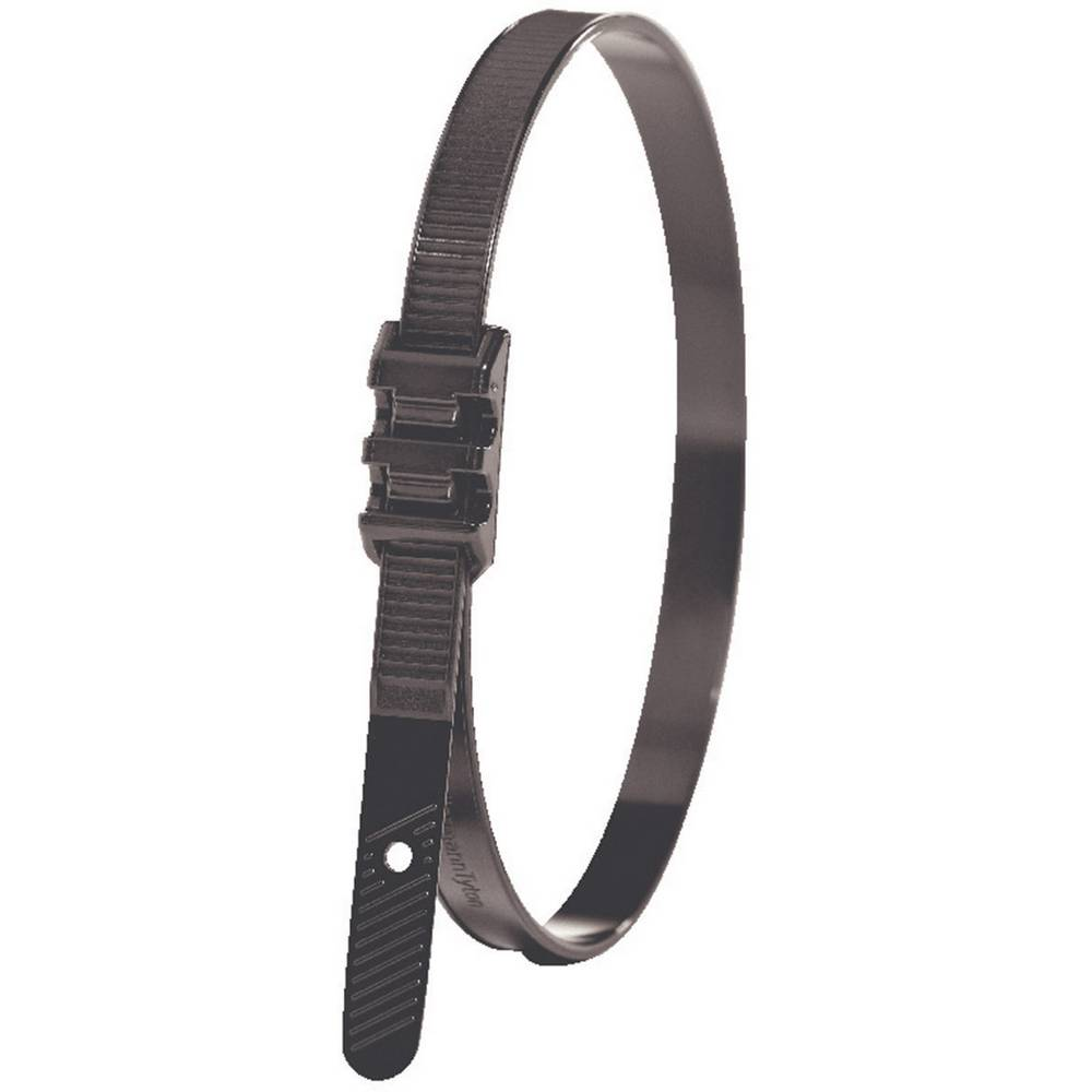 Kabelske vezice 180 mm črne barve, s ploščato glavo, UV-stabilne HellermannTyton 112-00011 LPH942 1 kos