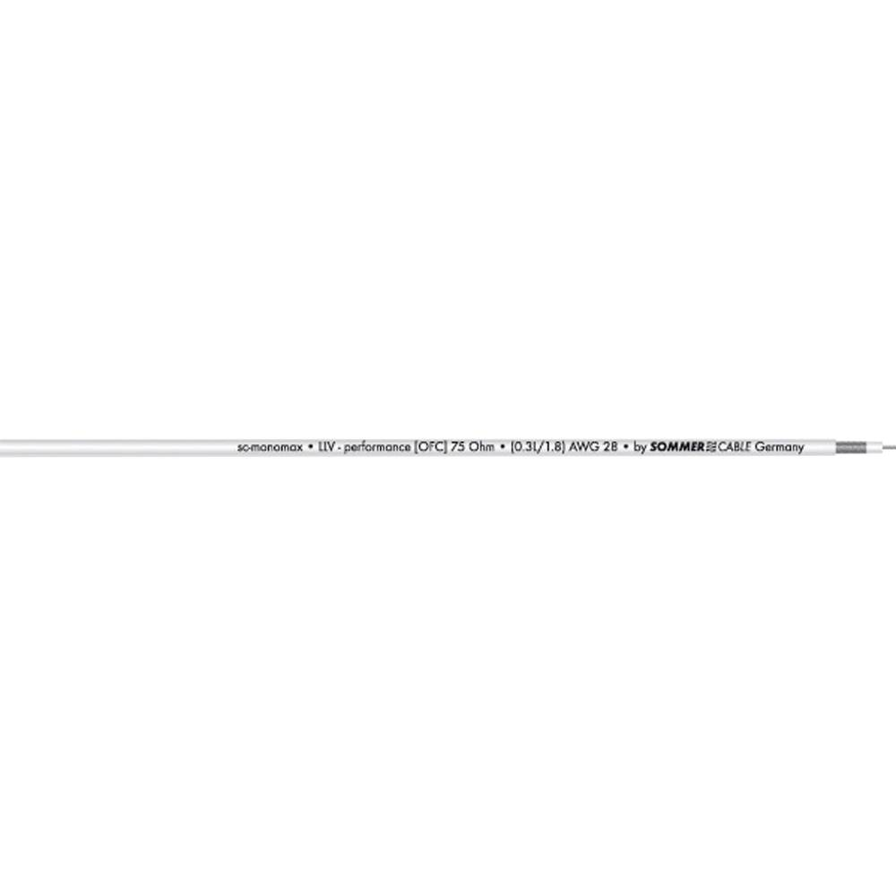 Video kabel Sommer Cable SC-MONOMAX, 1 x 0,08 mm2, bele barve, metrsko blago 600-0250-01