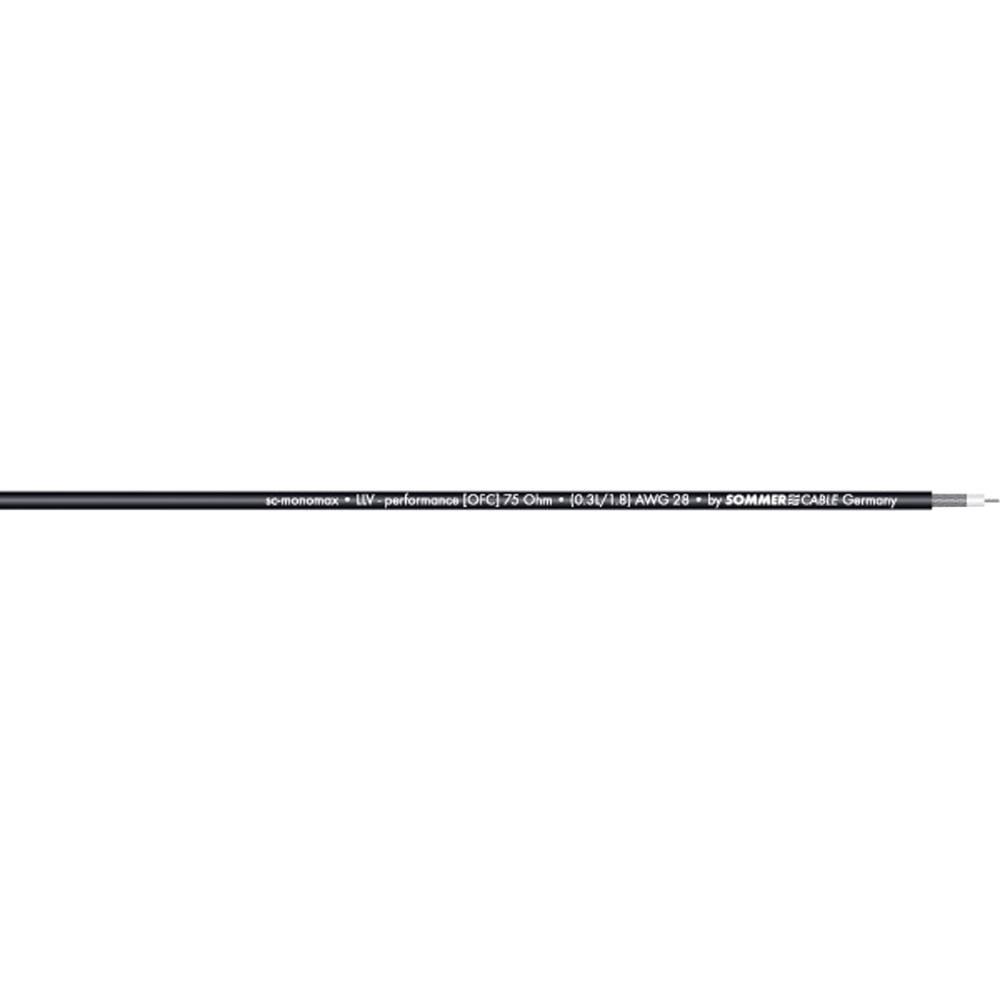 Sommer Cable-''SC-MONOMAX''-Video kabel, 1x0.08mmË>, crn, metarska roba 600-0251-01