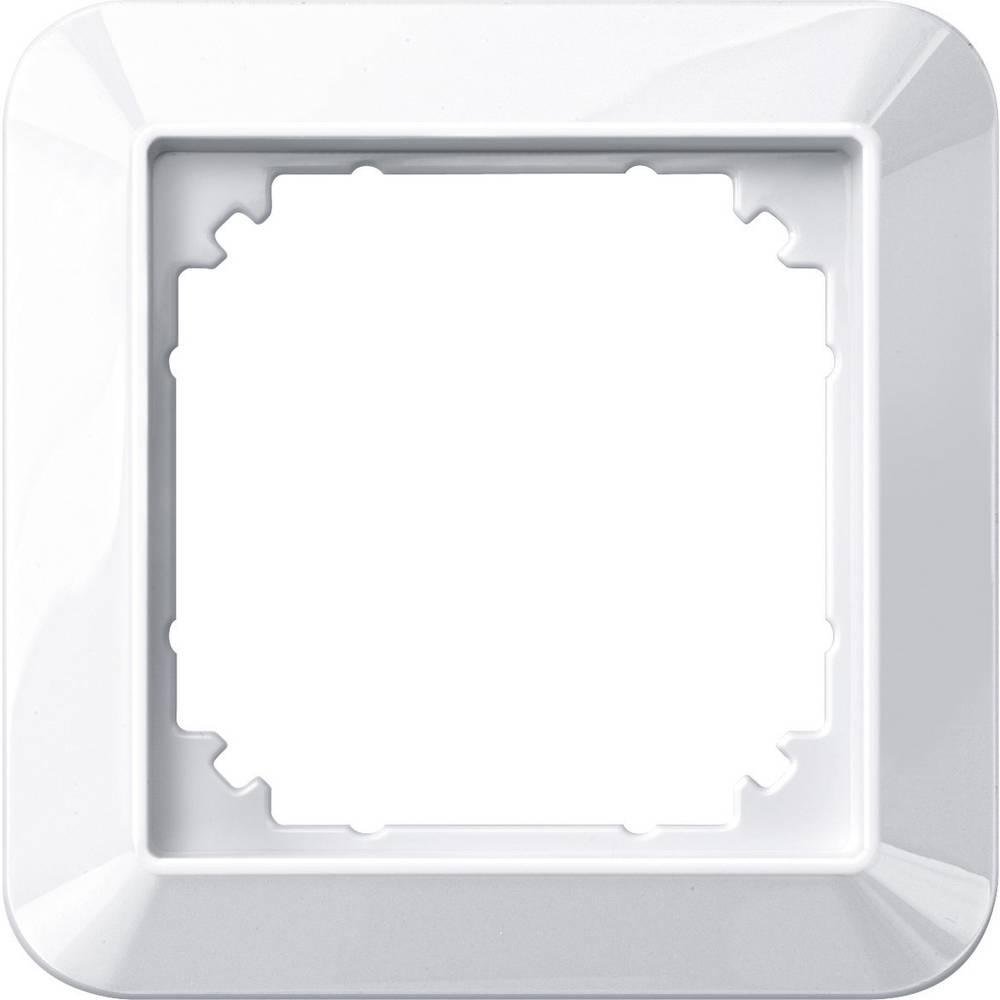 Merten enojni krovni okvir, 1-M, sistem M polarno bele svetleče barve 389119