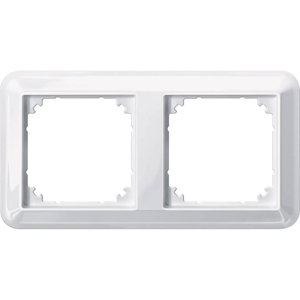 Merten dvojni krovni okvir, Atelier-M polarno bele svetleče barve 388219