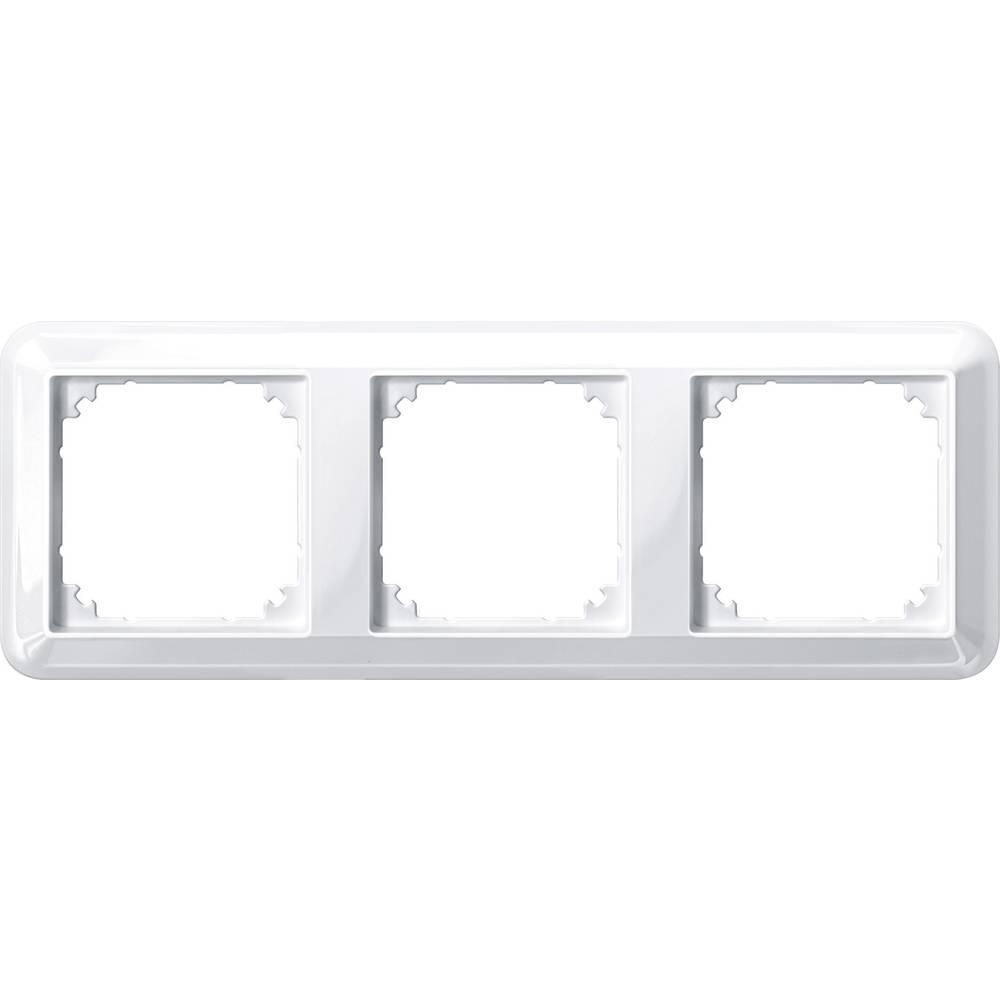 Merten trojni krovni okvir, Atelier-M polarno bele svetleče barve 388319