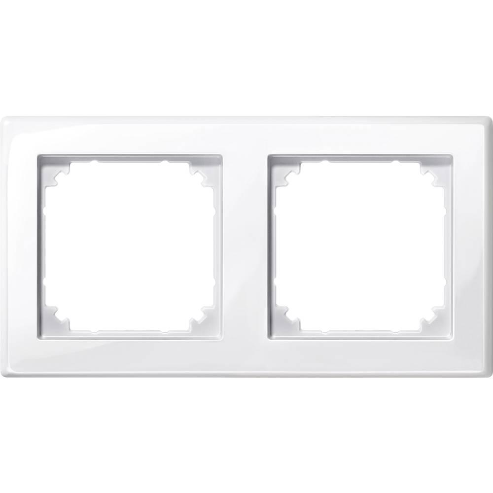 Merten dvojni krovni okvir, M-Smart polarno bele svetleče barve 478219