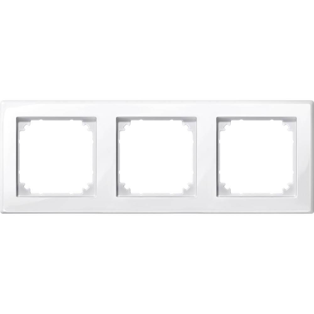 Merten trojni krovni okvir, M-Smart polarno bele svetleče barve 478319