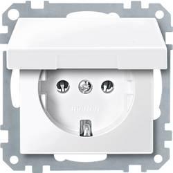 Merten vložek, varnostna vtičnica sistem M, 1-M, M-Creativ polarno bele svetleče barve MEG2311-0319