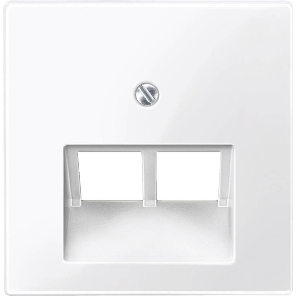 Merten centralna plošča,UAE/IAE/ISDN vtičnica sistem M, 1-M, M-Smart, polarno bele svetleče barve 296119