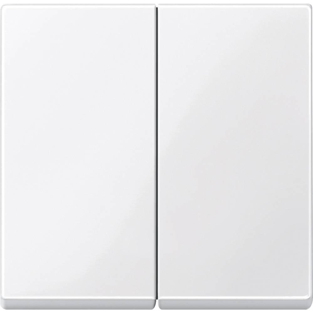 Merten centralna plošča, serijsko stikalo sistem M, 1-M, M-Smart, polarno bele svetleče barve 432519