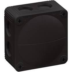 Avgreningsbox (LxBxH) 85 x 85 x 51 mm Wiska Combi 308/leer/S Svart IP66