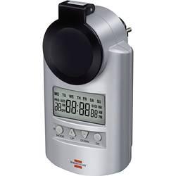 Vremenski uklopni sat za utičnicu, digitalni, tjedni program 23 h/59 min. Brennenstuhl 1507490 3680 W IP44 funkcija odbrojavanja