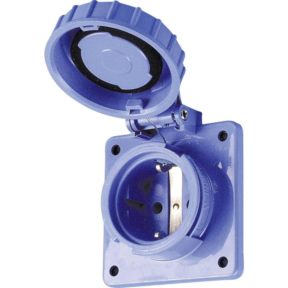 Vgradna vtičnica, neprepustnaza vodo pod pritiskom, maks. 3.680 W, IP68, modra