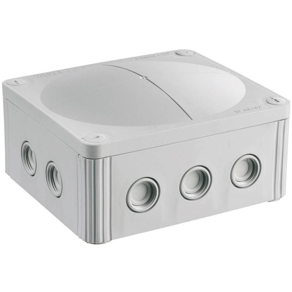 Odcepnik/odcepna omarica za vlažne prostore Wiska Combi 1210, prazna, siva, IP66/IP67 10101459