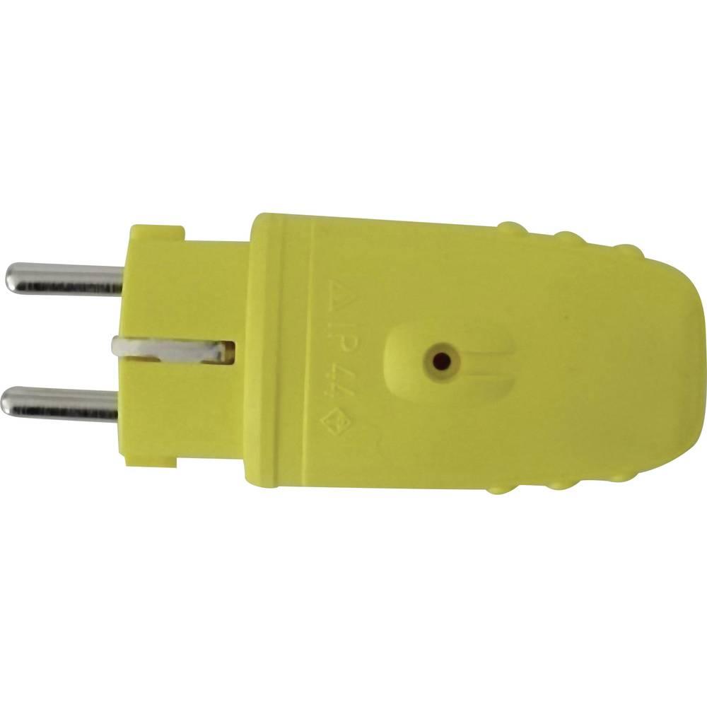 Utikač sa sigurnosnim kontaktom, gumeni, žuti 0171