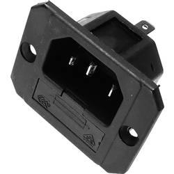 IEC-kontakt 750 Series (Nätanslutning) 750 Kontakt hane inbyggd vertikal Antal poler: 2 + PE 6.3 A Svart Kaiser 750/sw 1 st