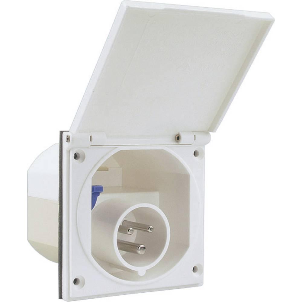 Napajalni konektor 811.100-CO CEE-Cara, beli 16 A IP44