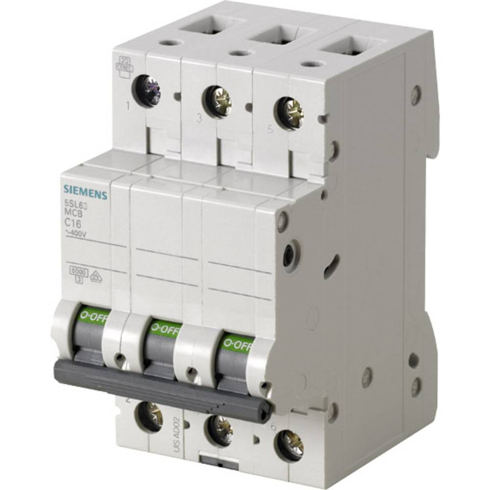 Inštalacijski odklopnik 3-polni 10 A Siemens 5SL6310-6