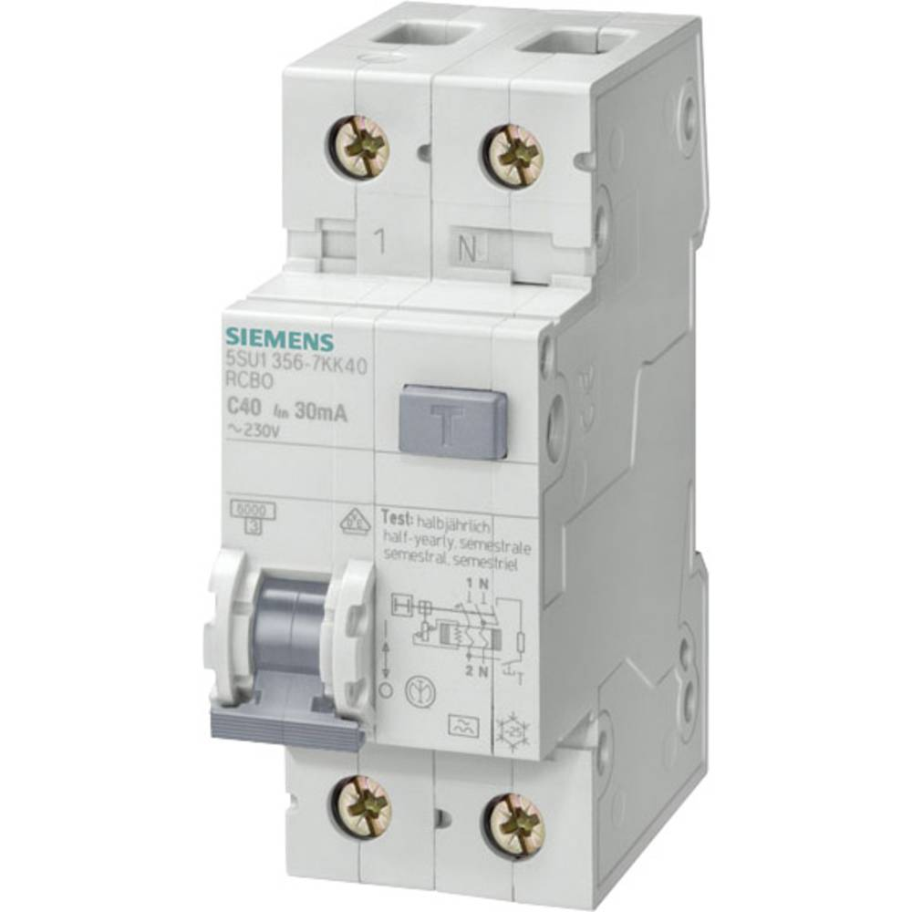 FI-sikkerhedsafbryder 1-polet 13 A 0.3 A 230 V Siemens 5SU1656-7KK13