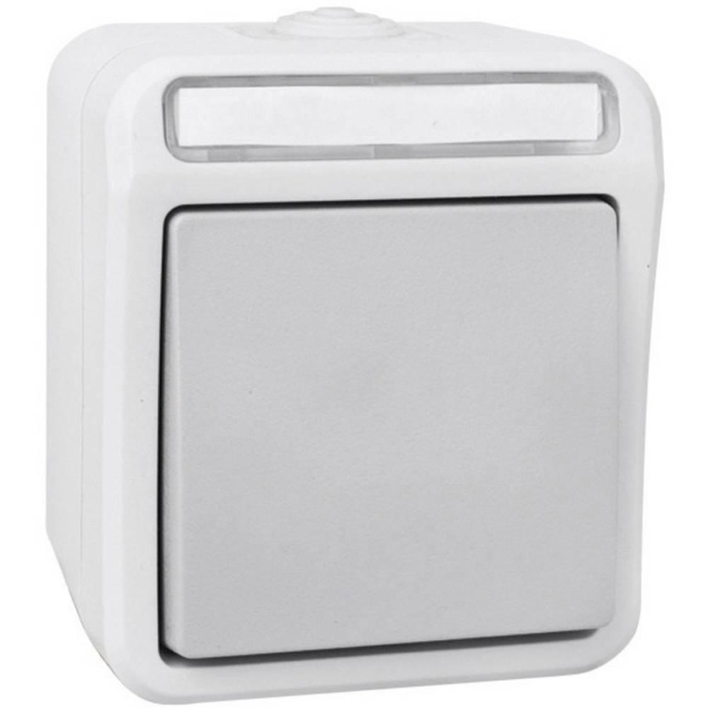 Križni prekidač za vlažne prostorije Peranova, svijetlo sive i tamno sive boje, IP54 102453