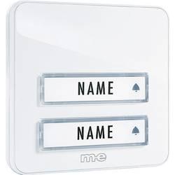 Plošča za zvonec, 2 enoti, m-e modern-electronics KTA-2 W bela 12 V/1 A
