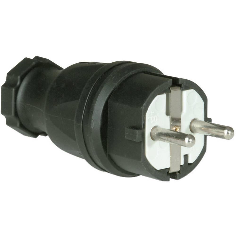 Varnostni električni vtič PCE0511-s, material: guma, črne barve