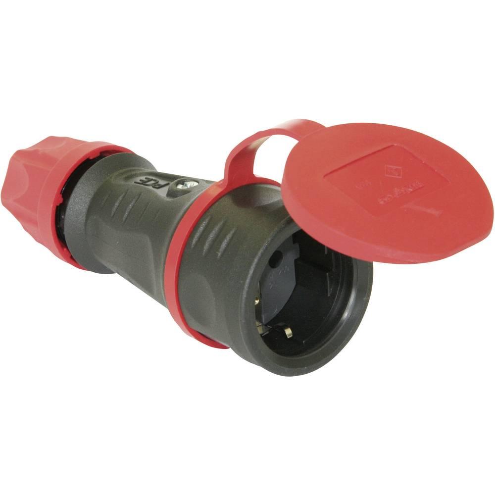 Varnostna električna vtičnicaPCE 25621-s, material: polna guma Taurus, črne barve, IP44
