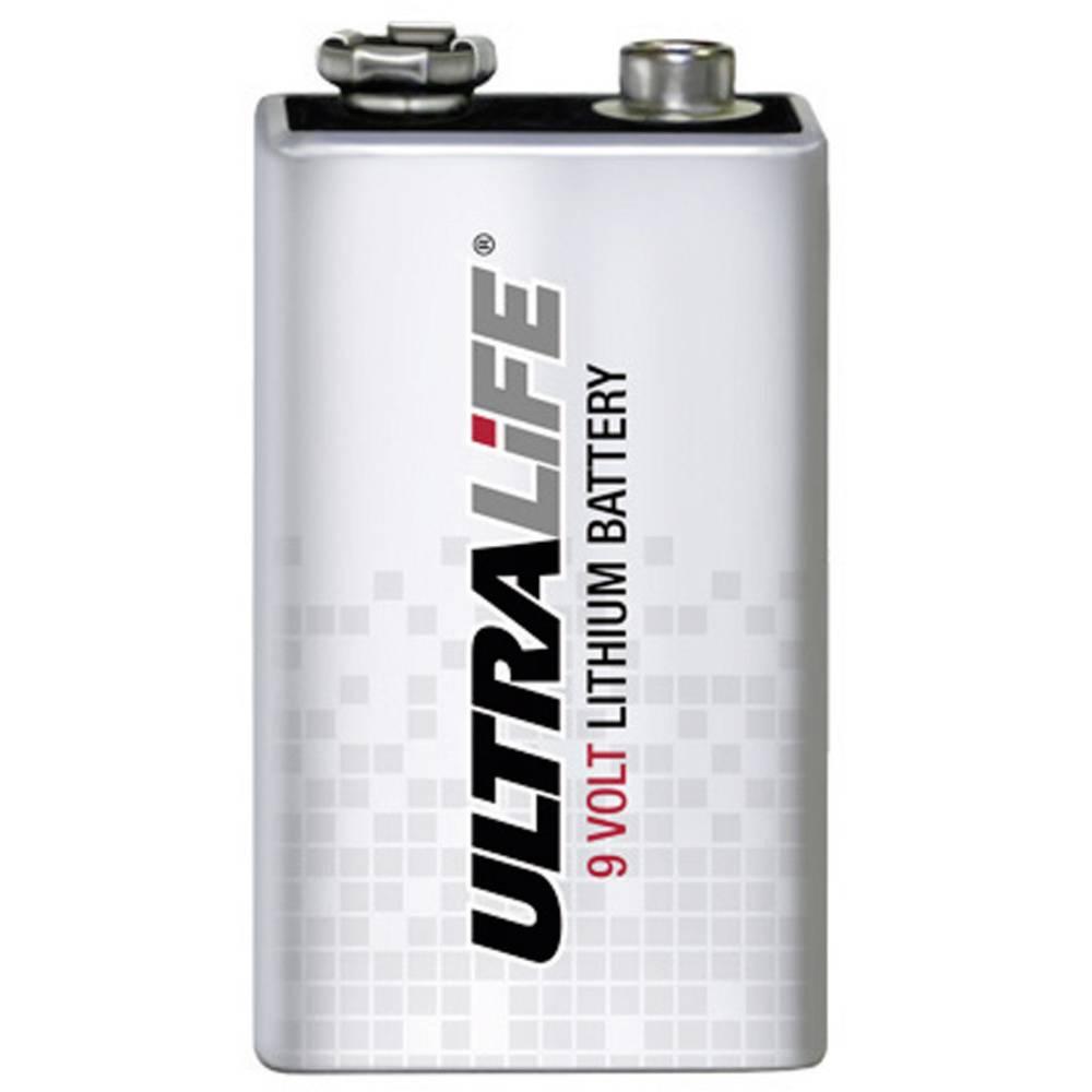 9 V block baterija, litijska, Ultralife U9VL-J-P 6LR61 1200 mAh 9 V 1 kom.