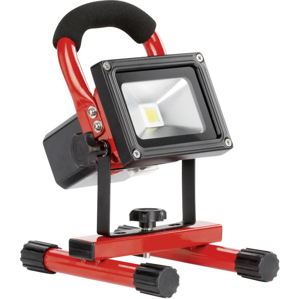 Akumulatorski delovni reflektor Ampercell, 10 W, oranžne in črne barve, High-Power Epistar LED, 3 h, 09000