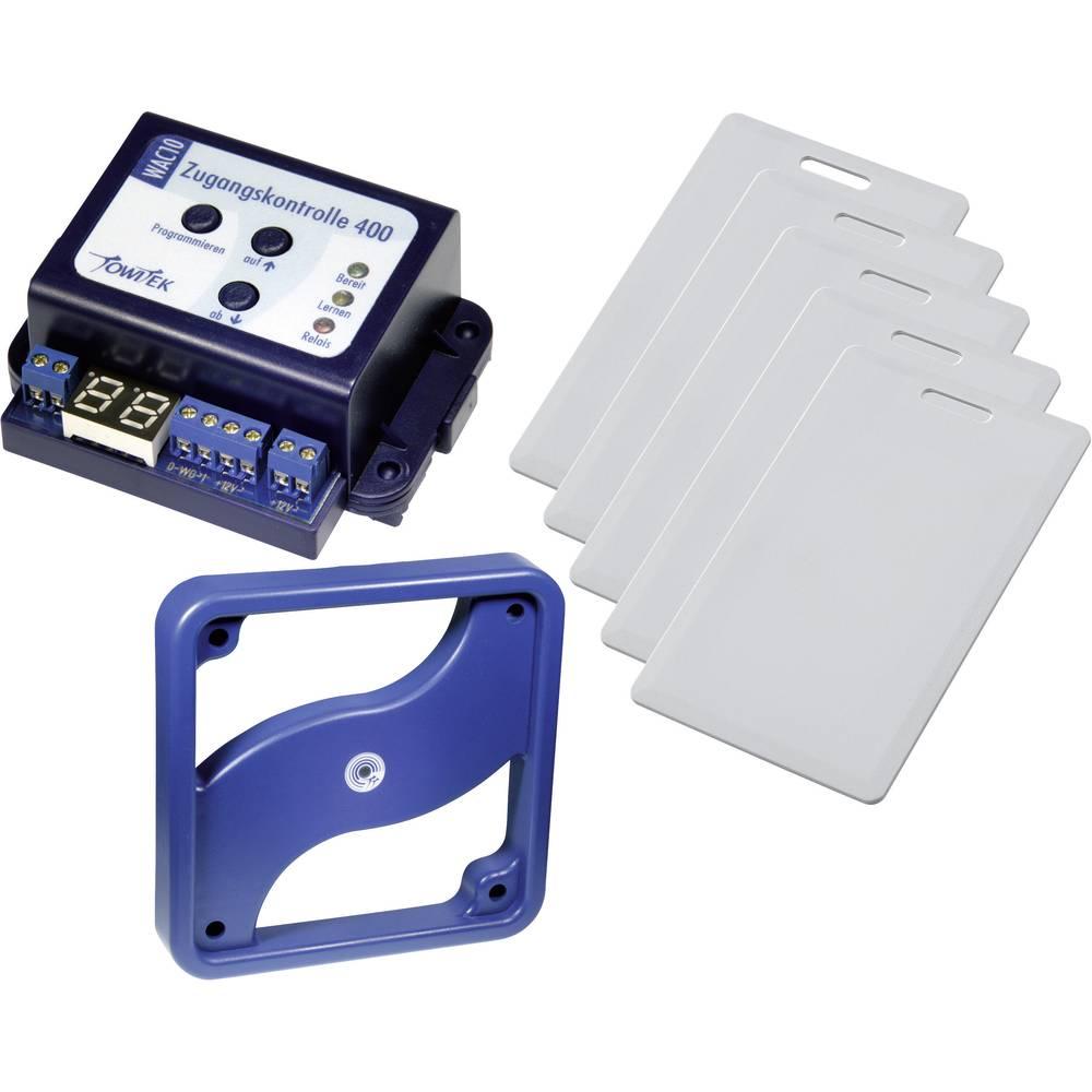TowiTek komplet univerzalnega nadzora dostopa UAC400 z RFID čitalcem širokega razpona in 5 čip kartic širokega razpona