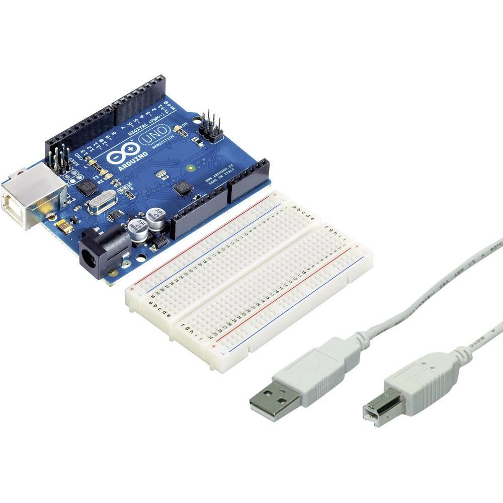 Komplet Arduino UNO plošča s tiskanim vezjem, USB 2.0 priključni kabel in vtična plošča s tiskanim vezjem