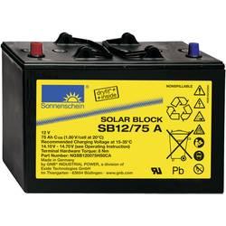 GNB Sonnenschein Solar-Block SB12/75 A NGSB120075HS0CA solarni akumulator 12 V 75 Ah svinčevo-gelni (Š x V x G) 330 x 236 x 171