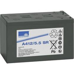Svinčev akumulator 12 V 5.5 Ah GNB Sonnenschein A412/5,5 SR NGA41205D5HS0RA svinčevo-gelni 152 x 98 x 66 mm ploščati vtič 6.3 mm