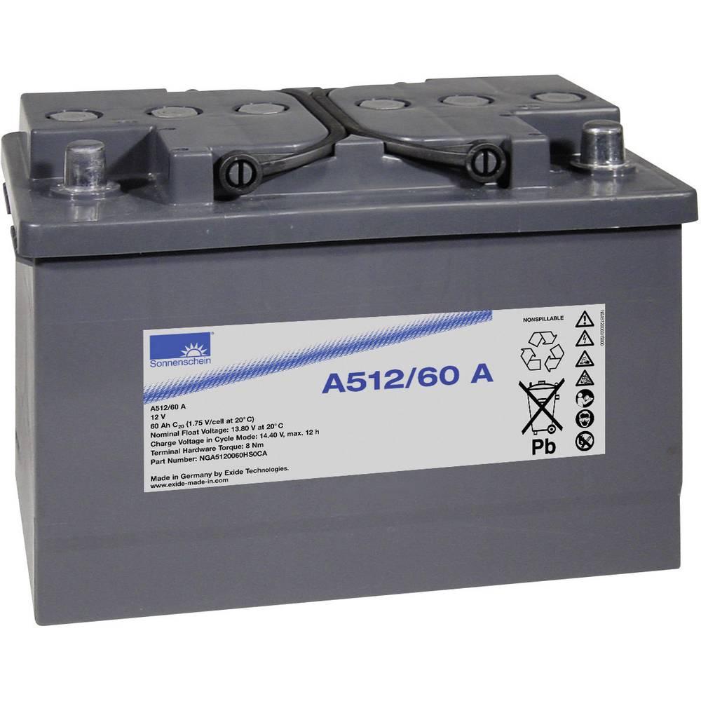 GNB Sonnenschein A512/60 A NGA5120060HS0CA Svinčeni akumulator 12 V 60 Ah Svinčevo-gelni (Š x V x G) 278 x 190 x 175 mm Konusni