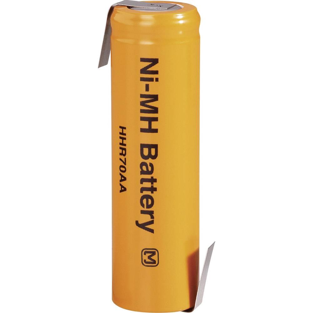NiMH akumulator Panasonic Mignon Z-spajkalni priključek, HHR-70AAB15-1Z 1.2 V 700 mAh (Ø x V) 15 mm x 50 mm