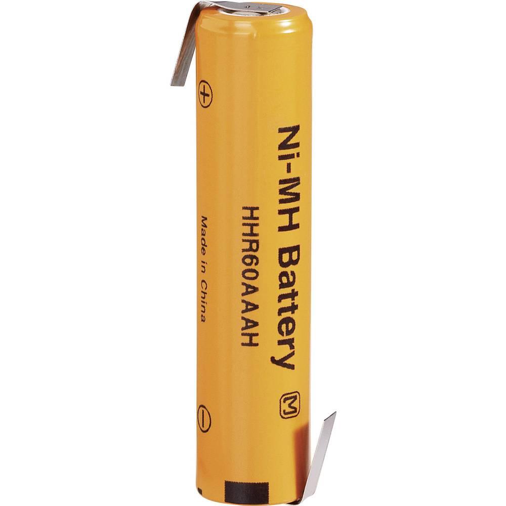 NiMH akumulator Panasonic Micro Z-spajkalni priključek, HHR-60AAAH-1Z, 1.2 V 500 mAh (Ø x V) 10.5 mm x 44.5 mm