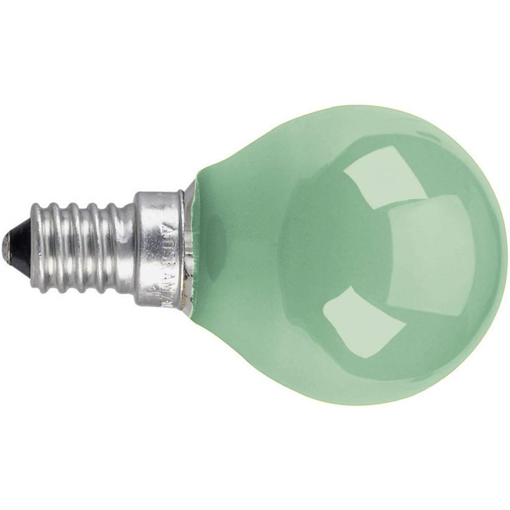 Dekorativna žarnica 74 mm Osram 230 V E14 11 W zelena, kapljasta oblika, zatemnilna, 4008321545800