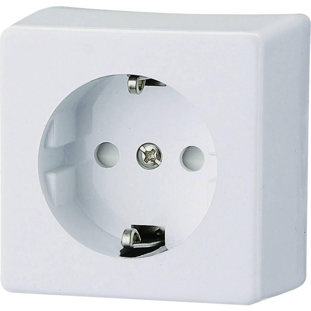 GAO Nadometna varnostna vtičnica 1-delna AP 0304 bele barve