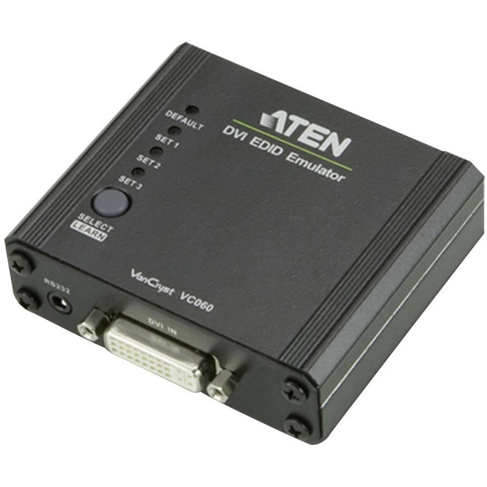 DVI adapter ATEN [1x DVI-utičnica 24+5pol. <=> 1x DVI-utičnica 24+5pol.] crn, VC060-AT