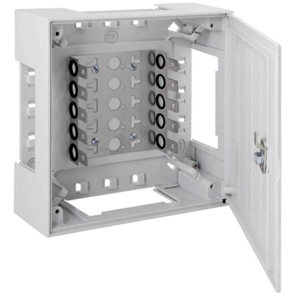 Razdelilnik iz umetne mase BOX II BOX II z okvirjem 5 LSA-letvice 2/10 46025.1 EFB Elektronik vsebuje: 1 kos