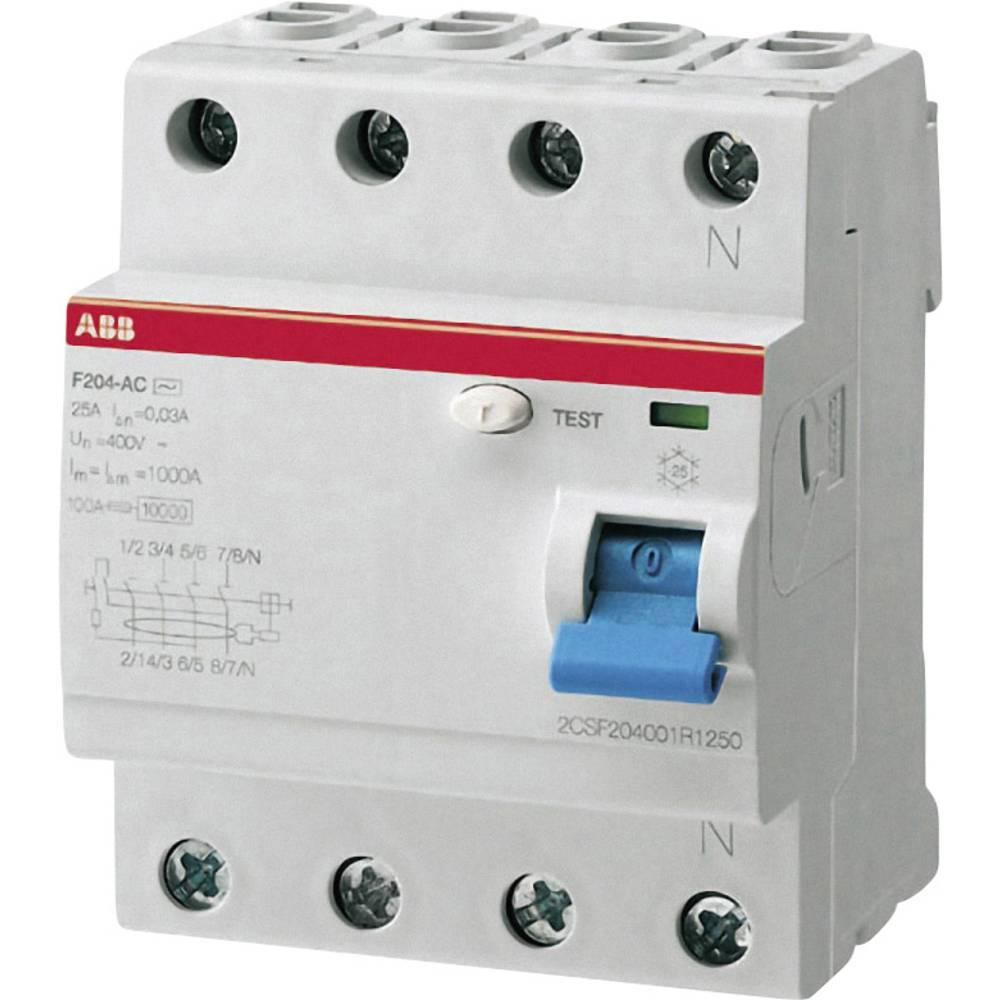 FID Zaštitni prekidač 4-polni 25 A 230 V/AC, 400 V/AC ABB 2CSF204101R1250