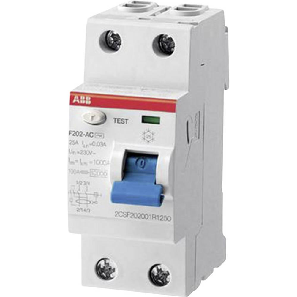 FI-sikkerhedsafbryder 2-polet 40 A 0.03 A 230 V/AC, 400 V/AC ABB 2CSF202101R1400
